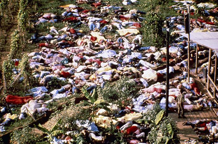 """Sekta """"Świątynia Ludu"""", masowe samobójstwo, Jonestown 1978"""