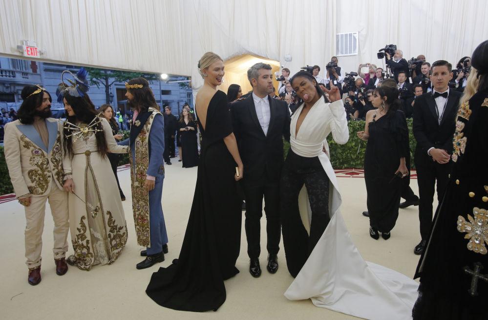 Karli Kloss, Brandon Maxwell i Tiffany Haddish na otwarciu Met Gala 2018