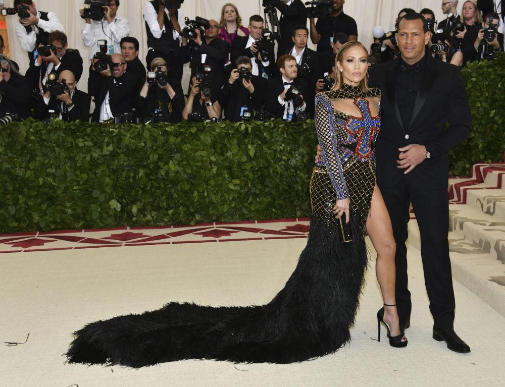 Jennifer Lopez i Alex Rodriguez na otwarciu Met Gala 2018