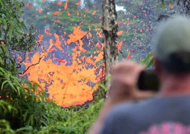 Wybuch wulkanu na Hawajach