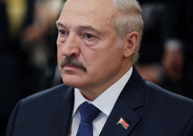 Prezydent Republiki Białoruś Aleksandr Łukaszenka. Zdjęcie archiwalne