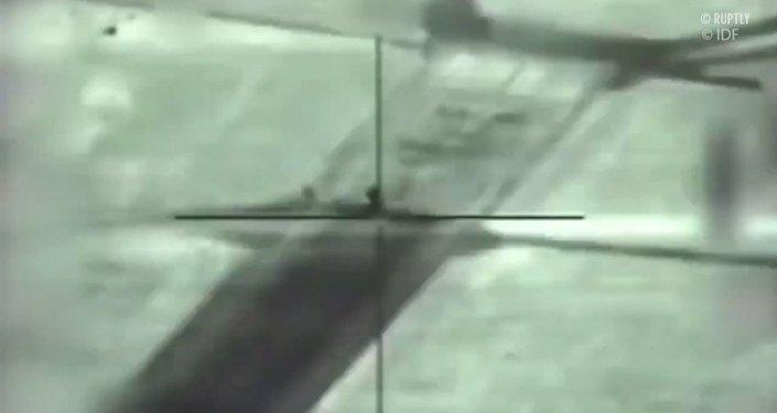 """Izraelska rakieta Spike NLOS niszczy """"Pancyra"""" w Syrii"""
