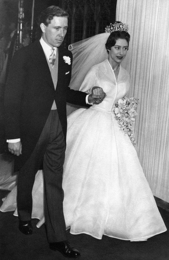 Młodsza siostra królowej Elżbiety II - księżniczka Małgorzata z mężem