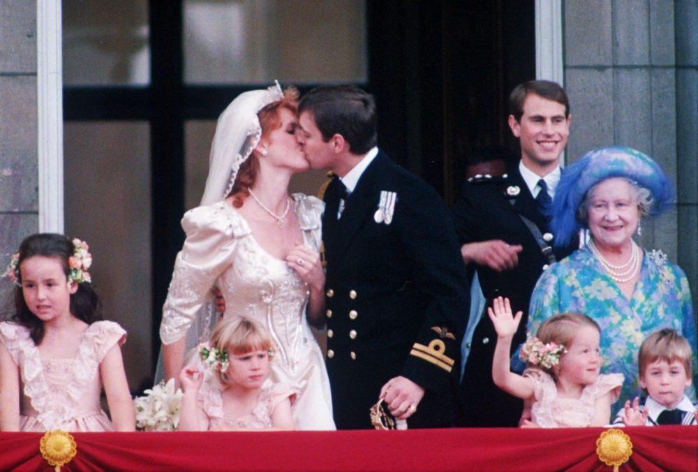 Książę Yorku Andrzej z żoną Sarą