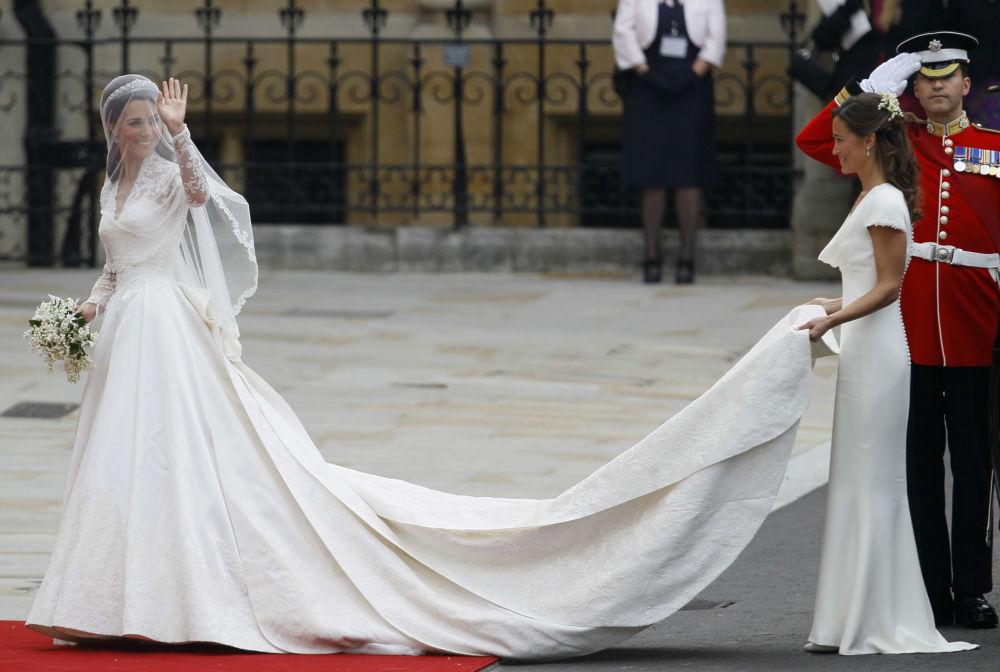 Kate Middleton podczas ceremonii ślubnej w Londynie