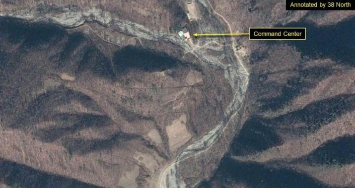 Zdjęcie satelitarne poligonu jądrowego Punggye-ri w Korei Północnej