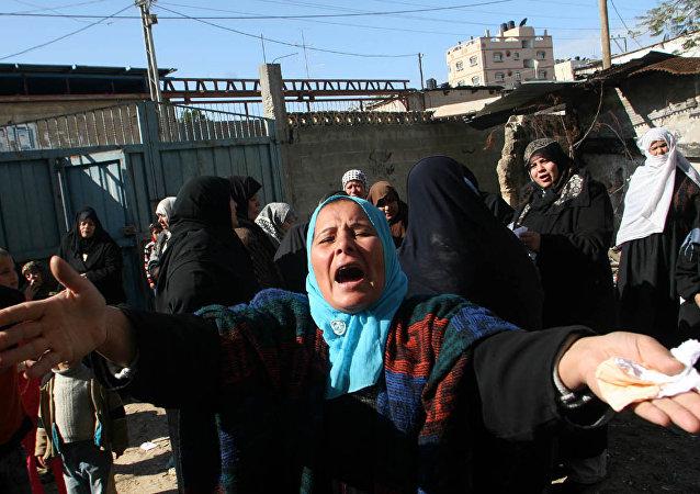 Palestynka w Strefie Gazy