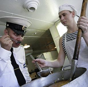 Kuchnia na statku desantowym Azow