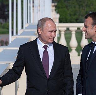 Władimir Putin, Emmanuel Macron