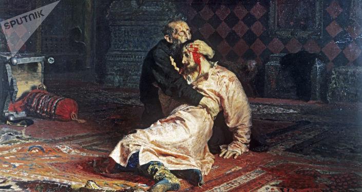 Obraz Ilji Riepina Car Iwan Groźny i jego syn Iwan 16 listopada 1581 roku