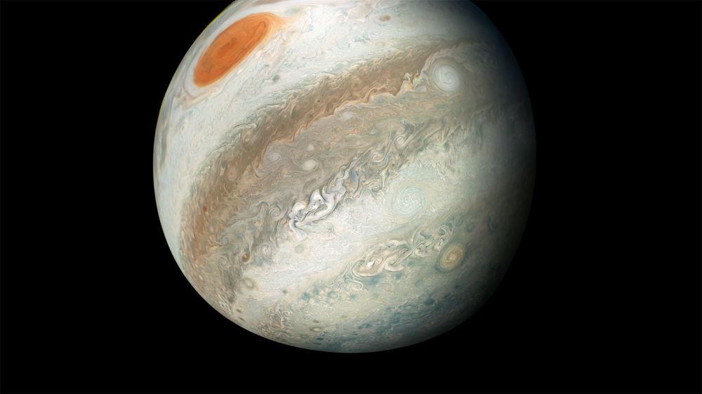 Zdjęcie Jowisza wykonane przez sondę Juno