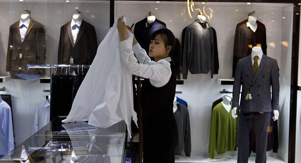 Luksusowy sklep odzieżowy w Pjongjangu