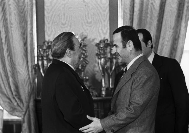 Leonid Breżniew i Hafez Asad w Moskwie, 1980 rok