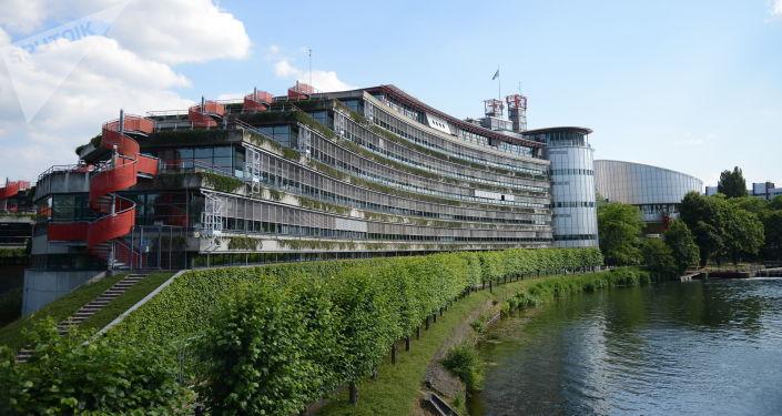 Budynek Europejskiego Trybunału Praw Człowieka w Strasburgu