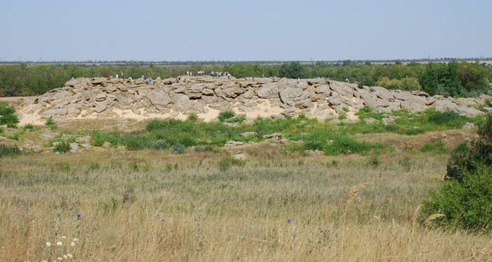 Masyw Kamienne Mogiły w rejonie melitopolskim na Ukrainie