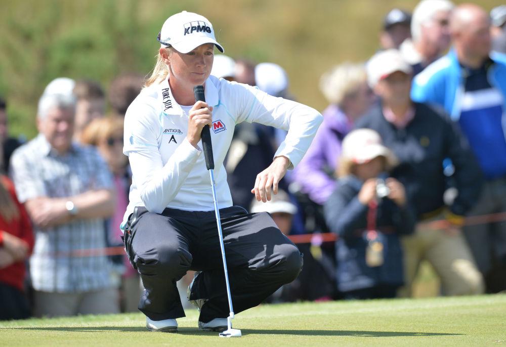 Amerykańska golfistka Stacy Lewis podczas turnieju w Anglii