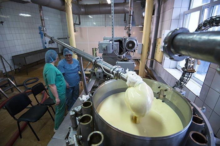 Omsk, produkcja mleka skondensowanego