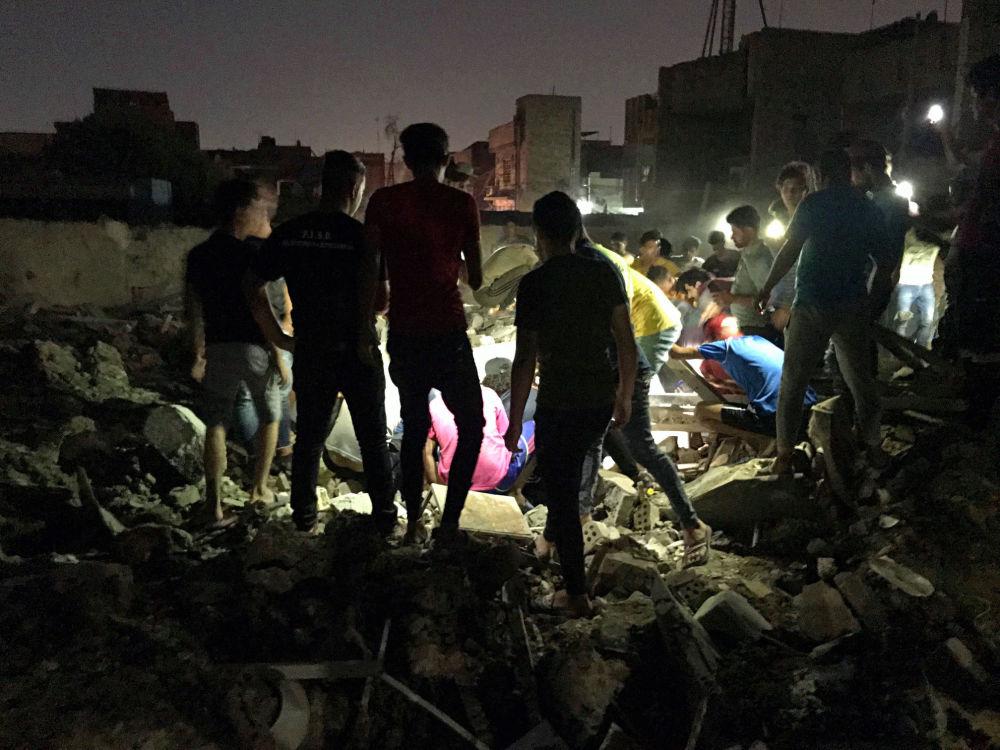 Wyniki eksplozji na północnym wschodzie Bagdadu