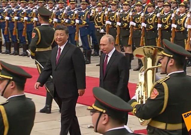 Putin z wizytą w Chinach