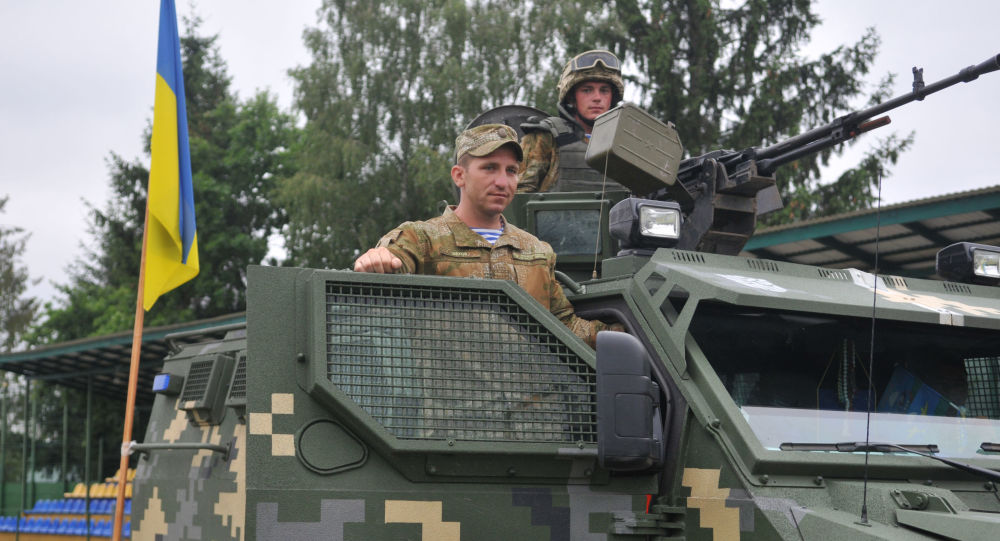 Ukraiński czołg w czasie Międzynarodowych Ćwiczeń Wojskowych Rapid Trident-2016