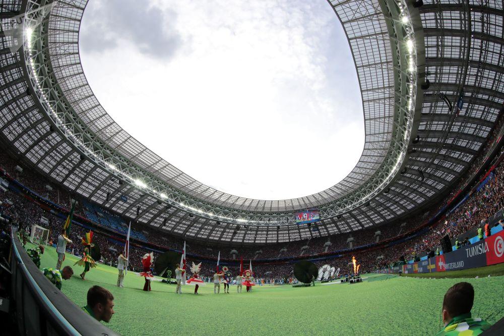 Ceremonia otwarcia MŚ 2018. Moskwa, stadion Łużniki