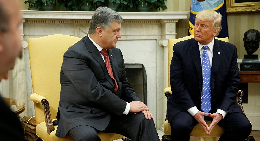 Donald Trump i Petro Poroszenko