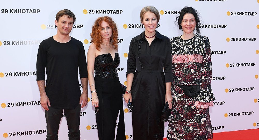 Ksenia Sobczak na ceremonii zamknięcia 29. festiwalu Kinotaur, Soczi