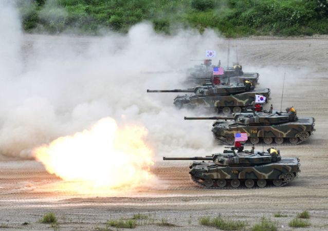 Wspólne ćwiczenia wojskowe USA i Korei Południowej. Zdjęcie archiwalne