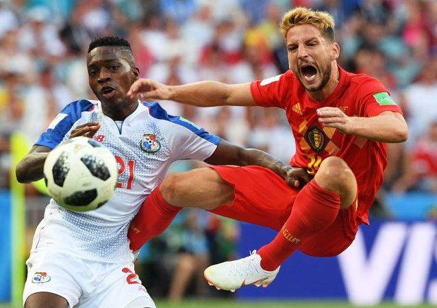 Mecz fazy grupowej Mistrzostw Świata w Piłce Nożnej między reprezentacjami Belgii i Panamy