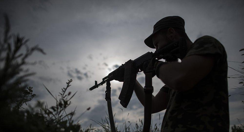 Ukraiński żołnierz z batalionu Kijów-2