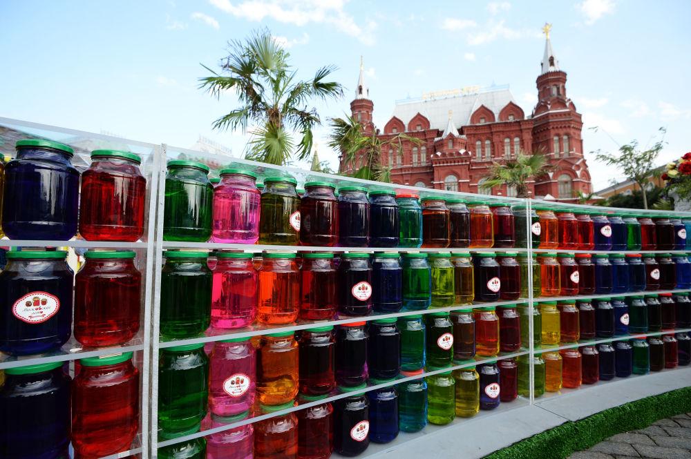 Instalacja na festiwalu konfitury w Moskwie