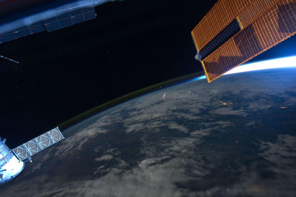 Rój meteorów Perseidy z pokładu MSK