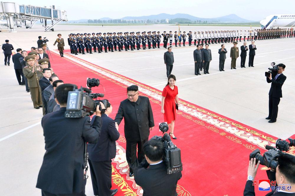 Przywódca KRLD podczas wizyty w Chinach