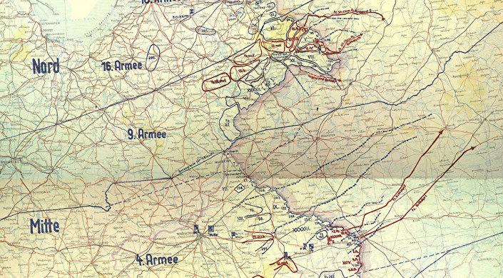 "Mapa-trofeum początkowego stadium planu ""Barbarossa"""