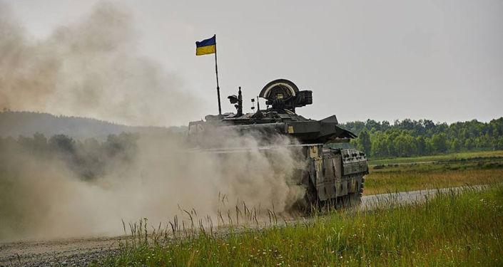 Ukraiński czołg. Zdjęcie archiwalne