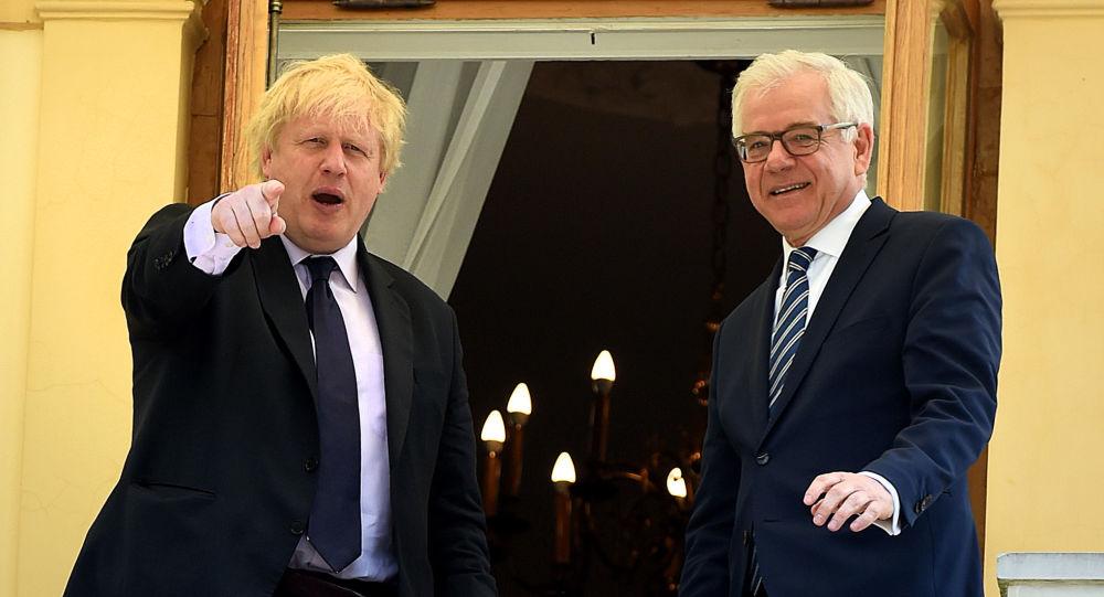 Boris Johnson i Jacek Czaputowicz
