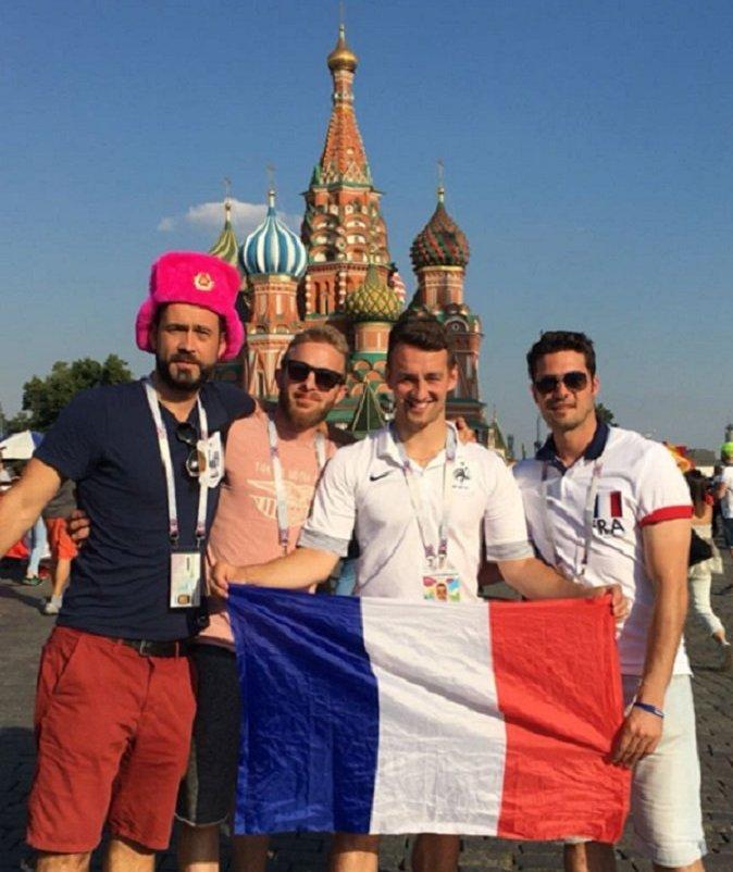 Kibice z Francji w Moskwie