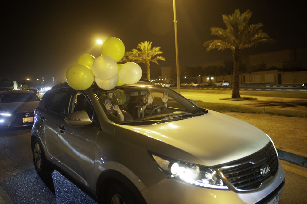 Kobiety świętują pierwszy wyjazd samochodem, Arabia Saudyjska