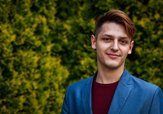 Aleksandr Anisimkow, moderator języka polskiego w Klubie Języków Obcych Uralskiego Uniwersytetu Federalnego.
