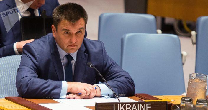 Minister spraw zagranicznych Ukrainy Pawło Klimkin