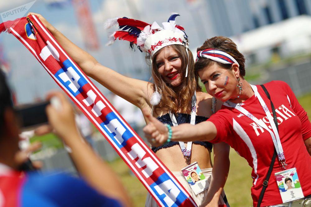 Kibicki na meczu Anglia - Panama