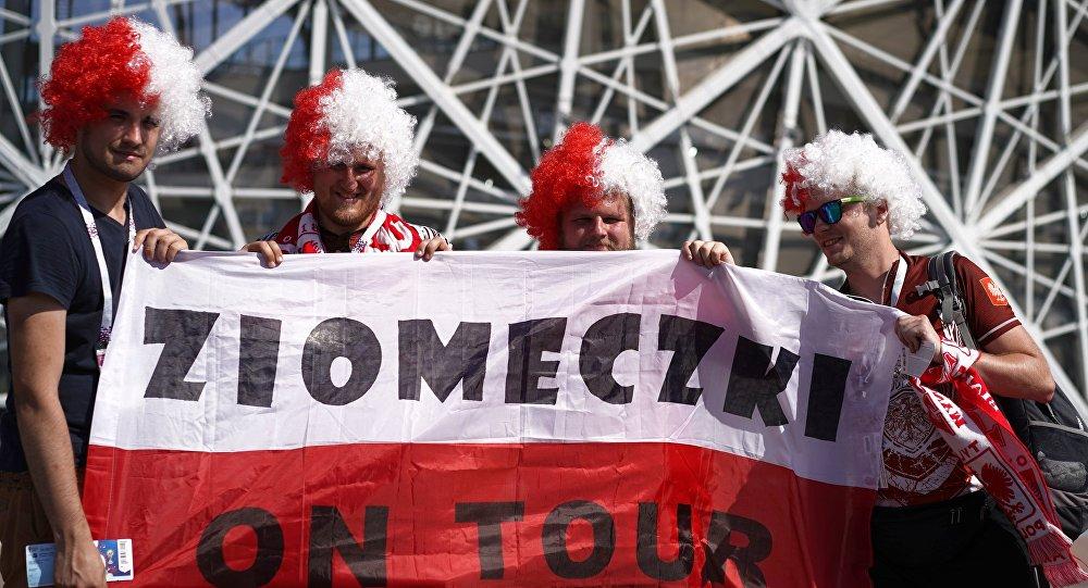 Kibice MŚ 2018 przed meczem Polska - Japonia w Wołgogradzie