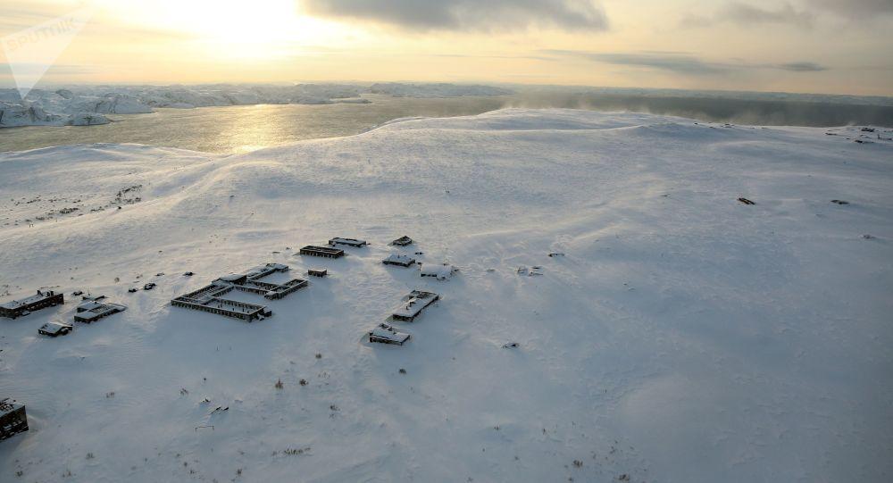 Osada na wyspie Kildin na Morzu Barentsa