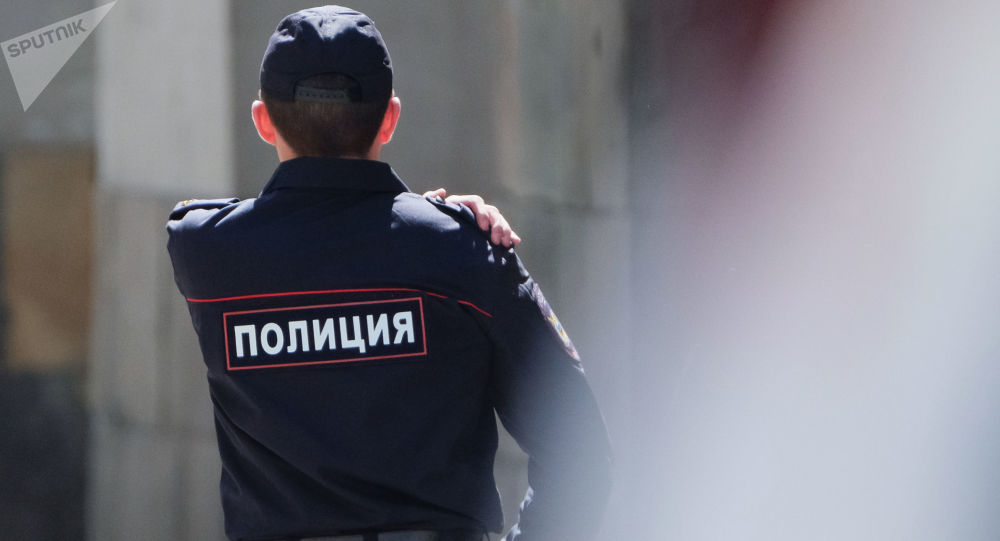 Pracownik moskiewskiej policji