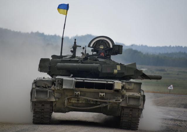 Ukraiński czołg T-34 na biathlonie w Niemczech