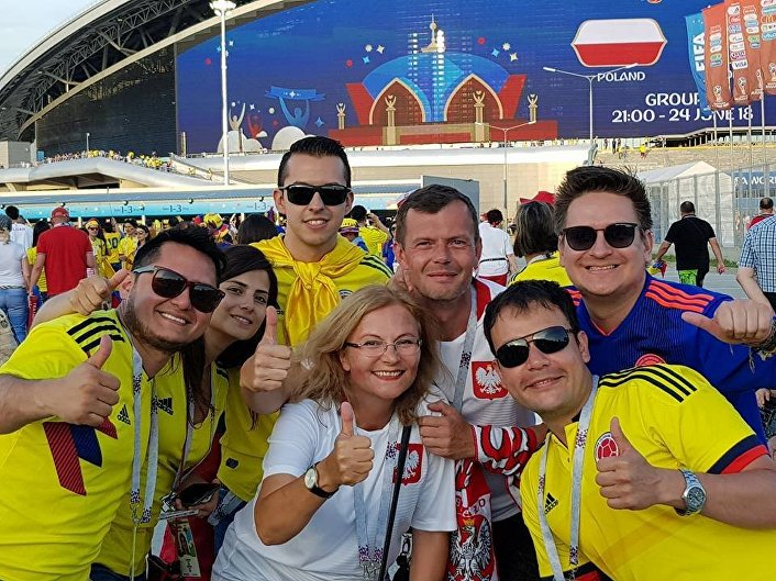 Przed meczem Polska - Kolumbia w Kazaniu