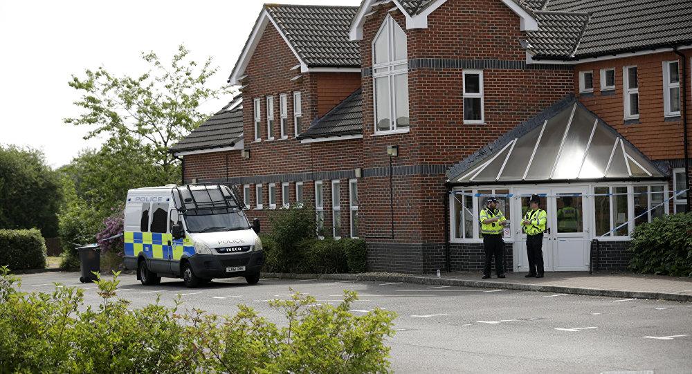 Policja w okolicach Amesbury, gdzie doszło do zatrucia nieznaną substancją, 4 lipca 2018