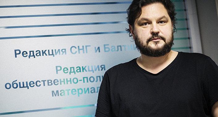 Redaktor naczelny Sputnik Łotwa Valentins Rożentsovs