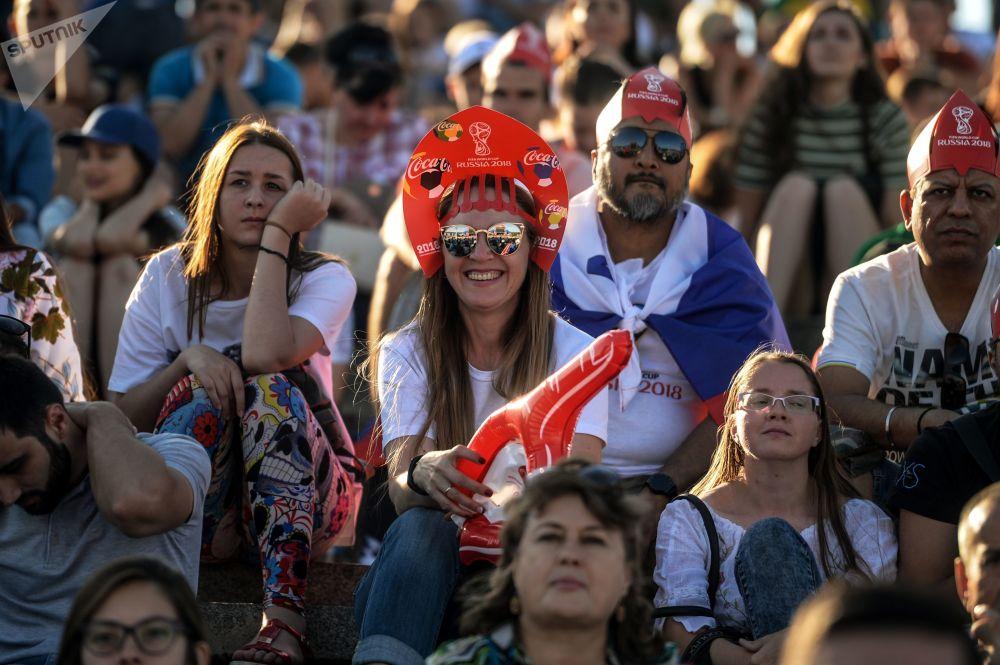 Na meczu Islandia - Australia w Wołgogradzie