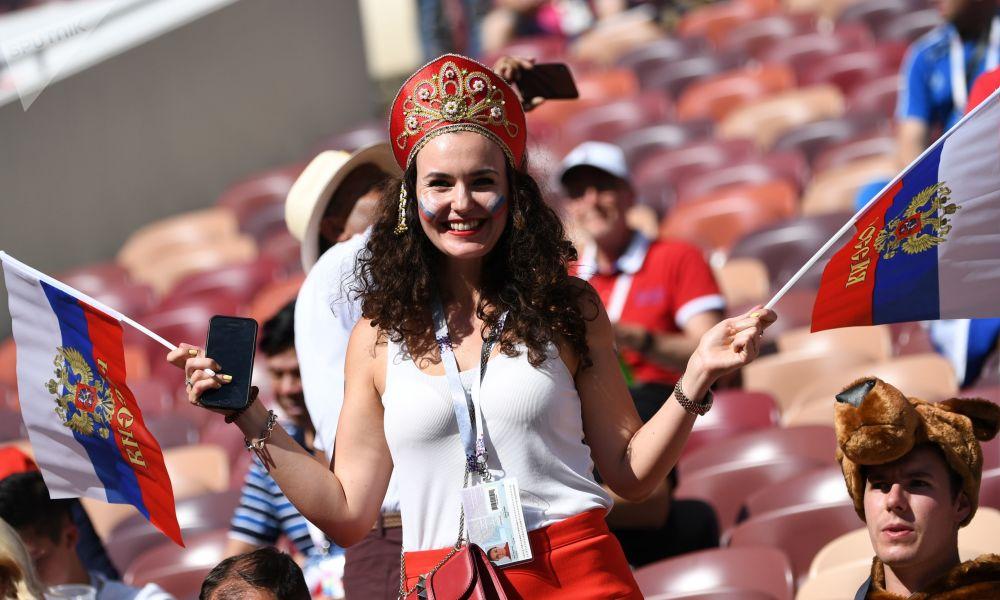 Rosjanka na meczu z Hiszpanią